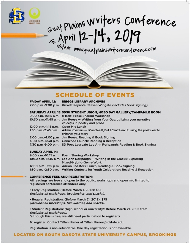 GreatPlainsWritersConference2019_Schedule_FINAL_PRINT